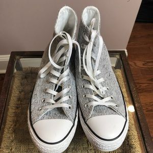 Converse High Top Silver Mint Condition